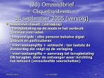 20 omzendbrief cliquetsysteem 26 september 2005 vervolg