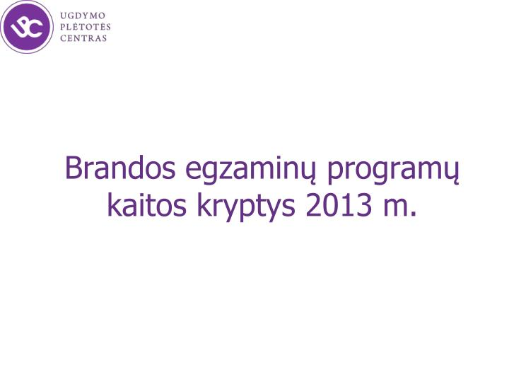 brandos egzamin program kaitos kryptys 2013 m n.
