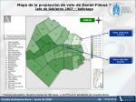 mapa de la proyecci n de voto de daniel filmus jefe de gobierno 2007 ballotage