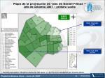 mapa de la proyecci n de voto de daniel filmus jefe de gobierno 2007 primera vuelta