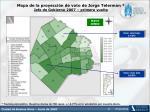 mapa de la proyecci n de voto de jorge telerman jefe de gobierno 2007 primera vuelta