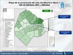 mapa de la proyecci n de voto de mauricio macri jefe de gobierno 2007 ballotage
