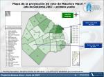 mapa de la proyecci n de voto de mauricio macri jefe de gobierno 2007 primera vuelta