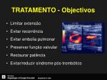 tratamento objectivos