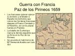 guerra con francia paz de los pirineos 1659