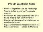 paz de westfallia 1648