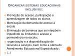 organizar sistemas educacionais inclusivos