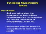 functioning neuroendocrine tumors