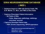 iowa neuroendocrine database ined