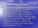 acidosis l ctica
