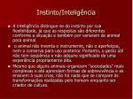 instinto intelig ncia