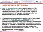 anticipos via retencion