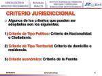 criterio jurisdiccional1