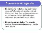 comunicaci n agresiva1