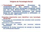 origens da tecnologia social