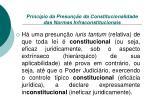 princ pio da presun o da constitucionalidade das normas infraconstitucionais