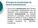 princ pio da taxatividade da norma constitucional