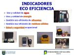 indicadores eco eficiencia