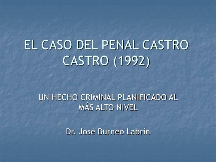 el caso del penal castro castro 1992 n.