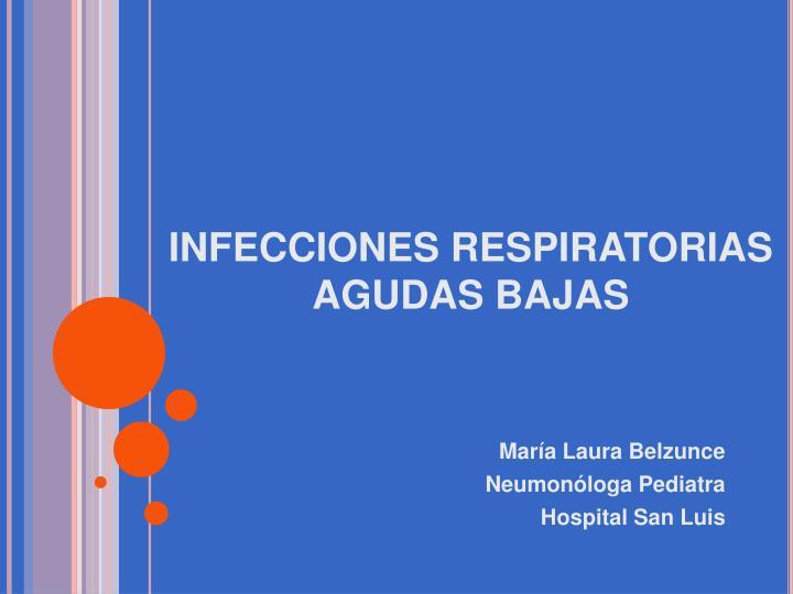 infecciones respiratorias agudas bajas n.