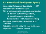 3 3 international development agency