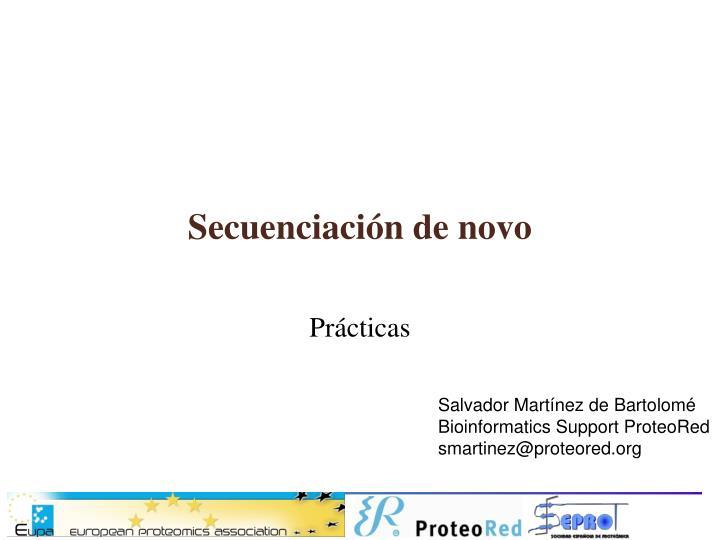 secuenciaci n de novo n.