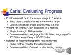 carla evaluating progress