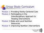 group study curriculum
