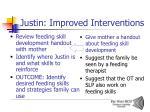 justin improved interventions