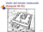 visi n del templo restaurado ezequiel 40 42