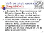 visi n del templo restaurado ezequiel 40 421