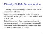 dimethyl sulfide decomposition