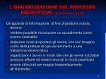 l organizzazione del processo produttivo g tuchmann 1978