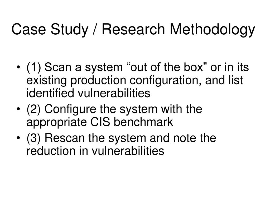 PPT - Research Report Summary CIS Benchmark Security