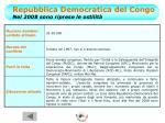 repubblica democratica del congo nel 2008 sono riprese le ostilit