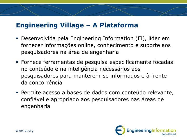 Engineering village a plataforma