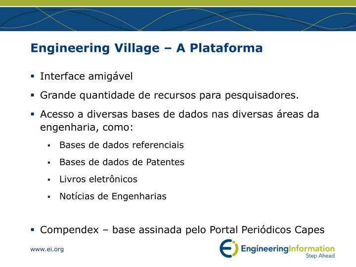 Engineering village a plataforma1