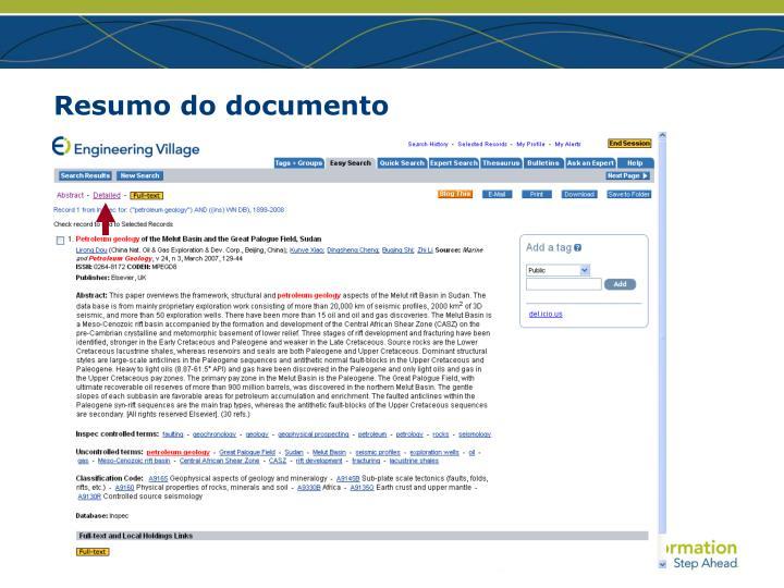 Resumo do documento