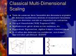 classical multi dimensional scaling