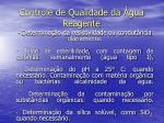 controle de qualidade da gua reagente1