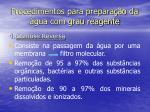 procedimentos para prepara o da gua com grau reagente3