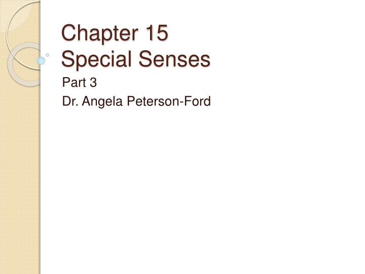 chapter 15 special senses n.