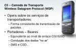 c5 camada de transporte wireless datagram protocol wdp