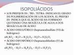 isopoli cidos