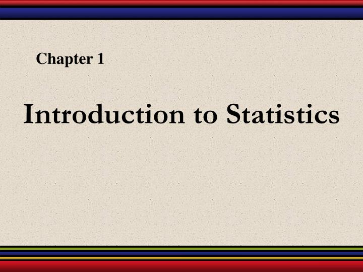 introduction to statistics n.