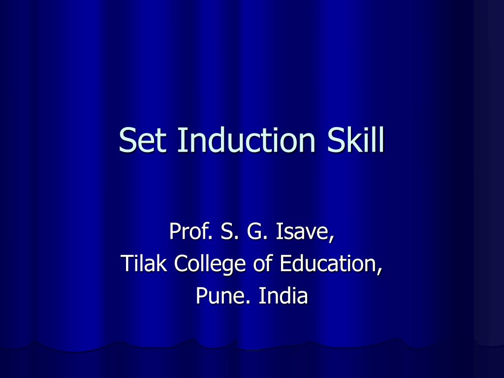set induction skill l.