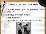 c ausas de una zoonosis