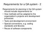 requirements for a qa system 2