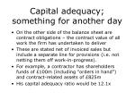 capital adequacy something for another day1