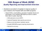 10th scope of work sow quality reporting and improvement overview3